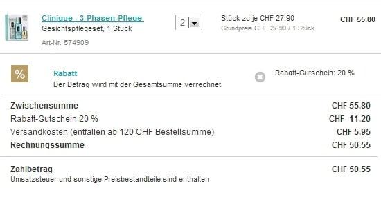 Clinique Gutscheincode 2