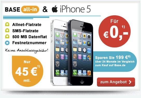 iPhone 5 kostenlos