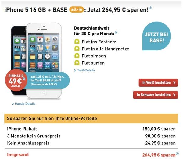 iPhone 5 mit Vertrag