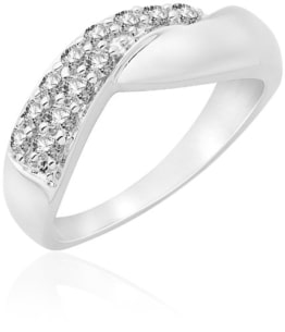 Miore Damen-Ring 925 Sterling Silber Zirkonia Gr. 54 (17.2) MPS049R4 -