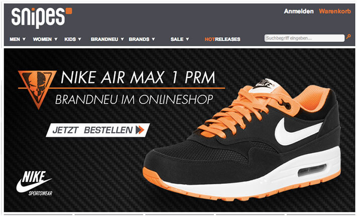 Sneakers bei Snipes